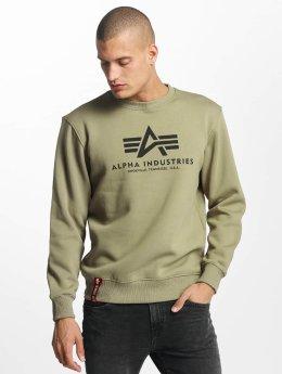 Alpha Industries Пуловер Basic оливковый