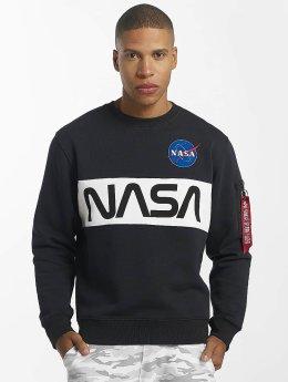 Alpha Industries Пуловер NASA Inlay синий