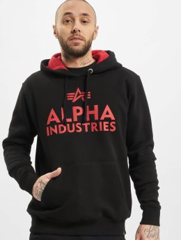 Alpha Industries Bluzy z kapturem Foam Print czarny
