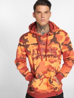 Alpha Industries Bluzy z kapturem Industries Foam Print moro