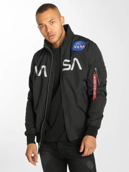 Alpha Industries Bomber NASA Flight noir