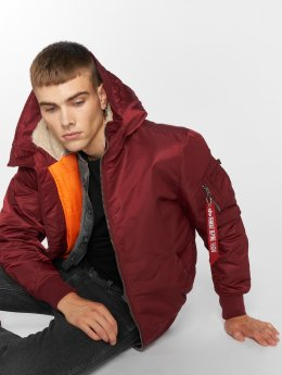 Alpha Industries Bomberjack MA-1 Hooded rood