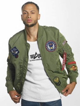 Alpha Industries Bomberjacke MA-1 TT Patch II grün