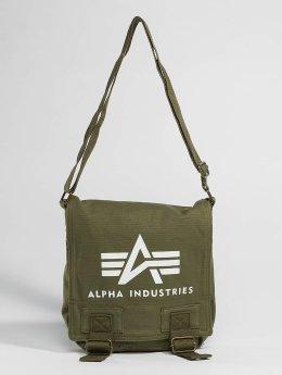 Alpha Industries Borsa Big A Canvas oliva