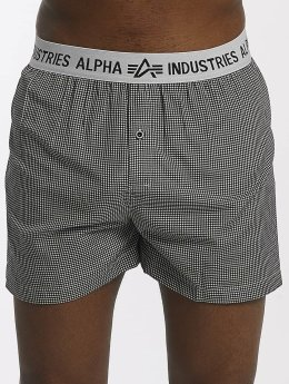 Alpha Industries Boxer Checked noir