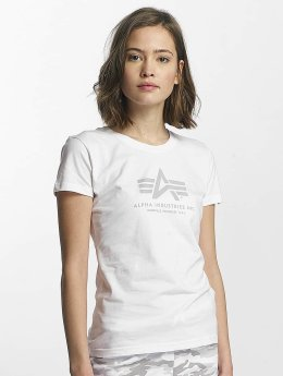 Alpha Industries Camiseta Logo blanco