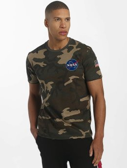 Alpha Industries Camiseta Space Shuttle camuflaje