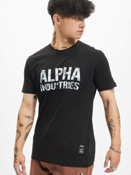 Alpha Industries Camiseta Camo negro
