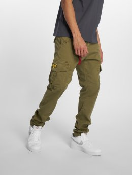Alpha Industries Chino bukser Petrol Patch oliven
