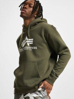 Alpha Industries Hoodie Basic grön