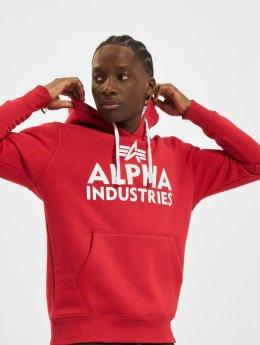 Alpha Industries Hoodie Foam Print röd