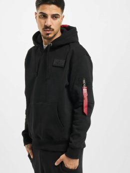 Alpha Industries Hoodie Red Stripe svart