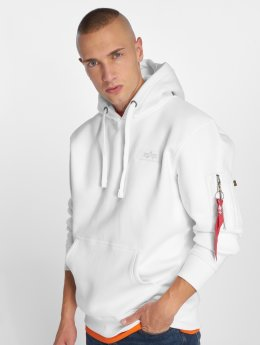Alpha Industries Hoodie Back Print vit