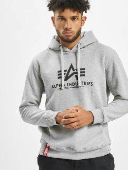 Alpha Industries Hoodies Basic grå