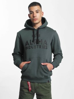 Alpha Industries Hoody Foam Print grijs