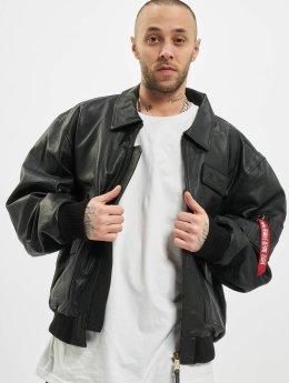 Alpha Industries Leather Jacket CWU-45/P  black