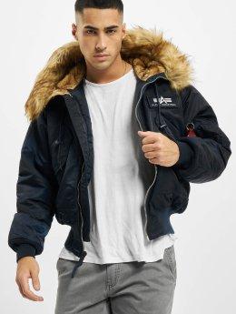 Alpha Industries Manteau hiver 45P Hooded Custom bleu