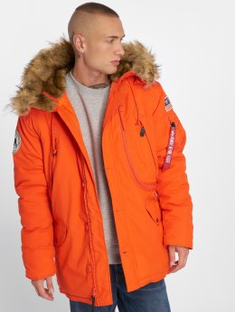 Alpha Industries Manteau hiver Polar orange