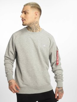 Alpha Industries Pullover X-Fit grau
