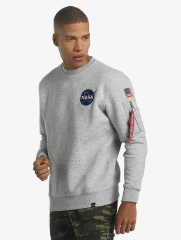 Alpha Industries Pullover Space Shuttle grau