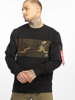 Alpha Industries Pullover Camo Bar schwarz