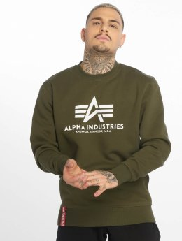 Alpha Industries Pulóvre Basic zelená