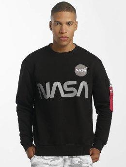 Alpha Industries Puserot NASA Reflective musta