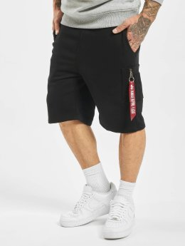 Alpha Industries Shortsit X-Fit Cargo musta