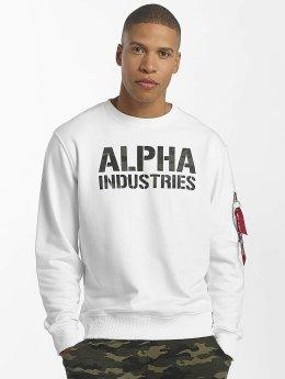 Alpha Industries Svetry Camo Print bílý