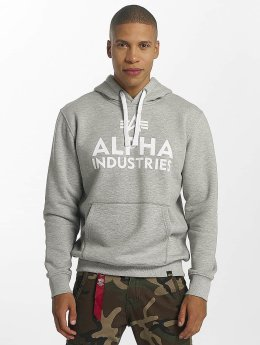 Alpha Industries Sweat capuche Foam Print gris