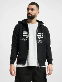 Alpha Industries Sweat capuche zippé Basic noir