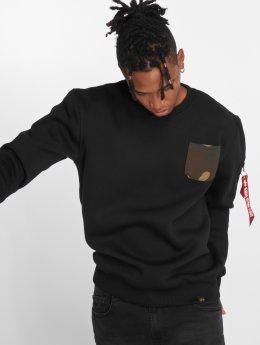 Alpha Industries Swetry Camo Pocket czarny