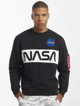 Alpha Industries Swetry NASA Inlay niebieski