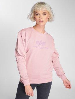 Alpha Industries Swetry Logo rózowy