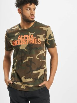 Alpha Industries T-paidat Blurred  camouflage