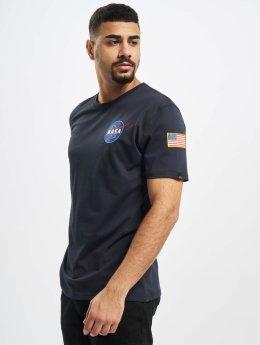 Alpha Industries T-Shirt Space Shuttle blau