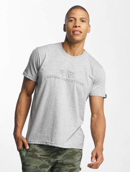 Alpha Industries T-Shirt 3D grau