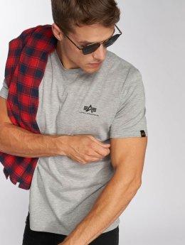Alpha Industries T-Shirt Basic Small Logo grau