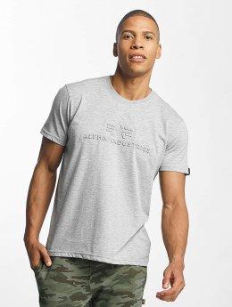 Alpha Industries T-Shirt 3D gray
