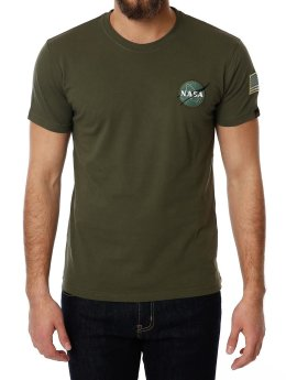 Alpha Industries T-Shirt Space Shuttle grün