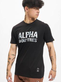 Alpha Industries t-shirt Camo zwart