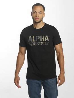 Alpha Industries t-shirt Camo Print zwart