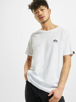 Alpha Industries T-Shirty Basic Small Logo bialy