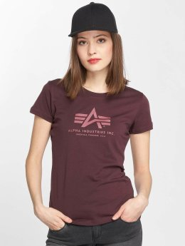 Alpha Industries T-Shirty Logo fioletowy