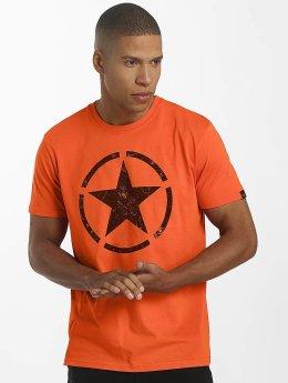 Alpha Industries T-Shirty Star pomaranczowy