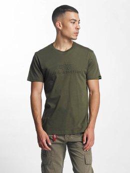 Alpha Industries T-Shirty 3D zielony