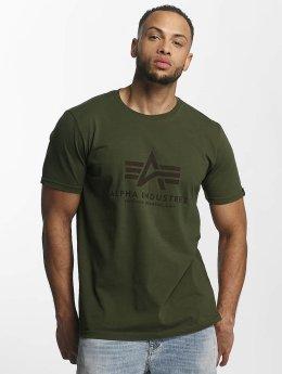 Alpha Industries T-skjorter Basic grøn