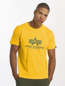 Alpha Industries T-skjorter Basic gul