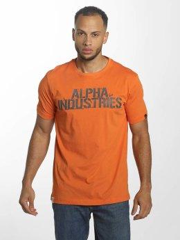 Alpha Industries T-skjorter Blurred oransje