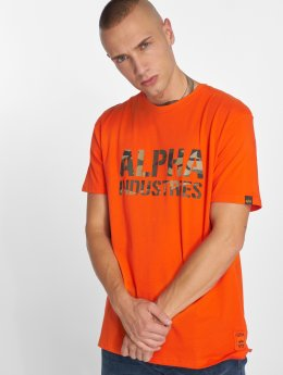 Alpha Industries T-skjorter Camo Print oransje